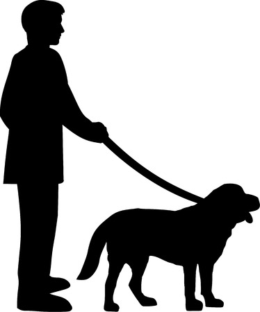 pincher: Dog with owner