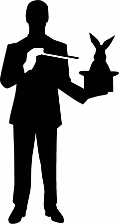 magician hat: Magician Silhouette