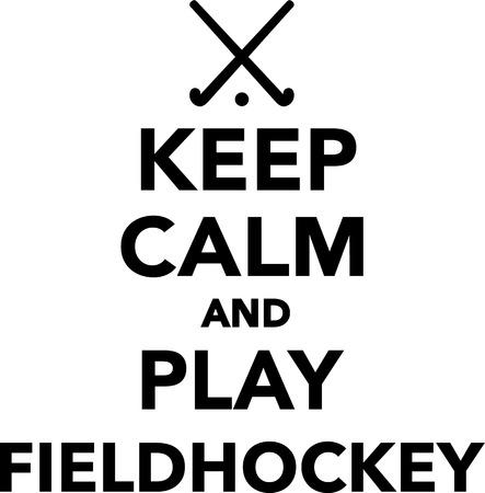 Gardez le calme et de jouer au hockey sur gazon Vecteurs