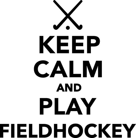 hockey sobre cesped: Mantener la calma y jugar a hockey hierba Vectores