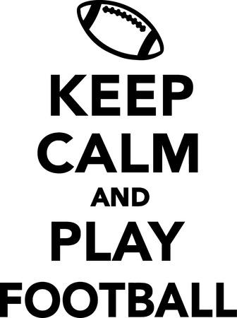 calm: Keep calm and play football