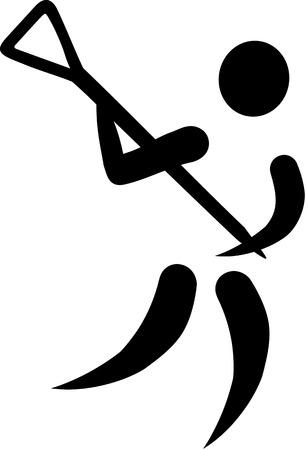 crosse: Lacrosse Icon Illustration