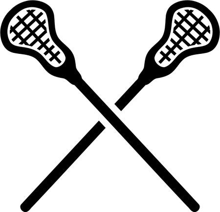 crosse: Lacrosse Sticks crossed