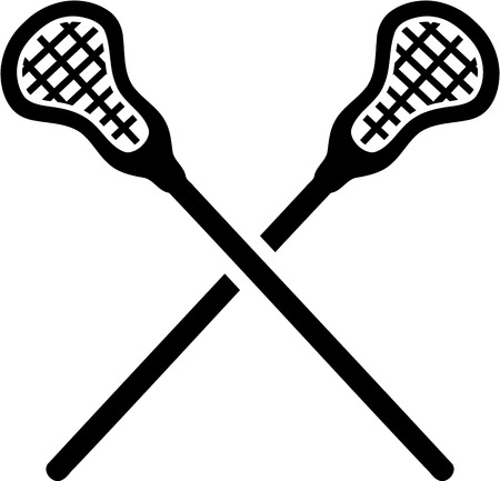 Lacrosse Sticks crossed