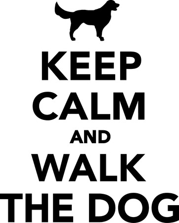 bull dog: Keep calm nad walk the dog
