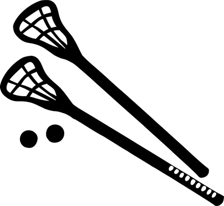 crosse: Lacrosse Sticks with balls