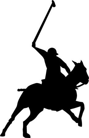 Polo Player Silhouette 免版税图像 - 40901328