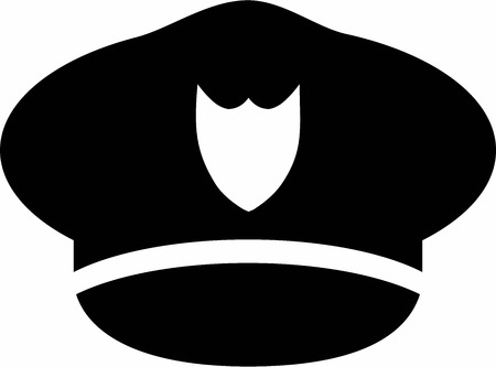 police icon: Police Hat illustration