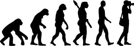 Photographer Evolution  イラスト・ベクター素材