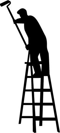 Painting Silhouette Vettoriali
