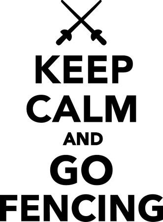 calm: Keep calm and go fencing