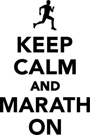 calm: Keep calm and marathon Illustration