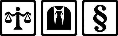 Rechtsanwalt Justiz Symbole Standard-Bild - 40902977