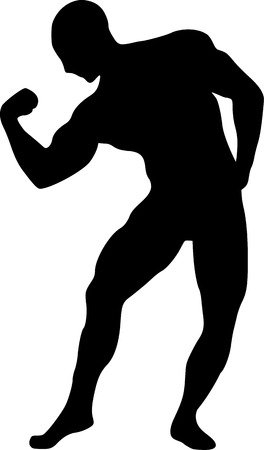 muscle training: Muscle Training Silueta