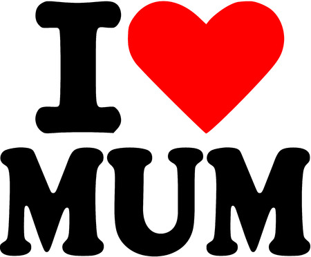 i love you symbol: I love Mum Illustration