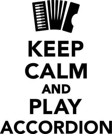 an accordion: Mantenga la calma y el juego de Acorde�n