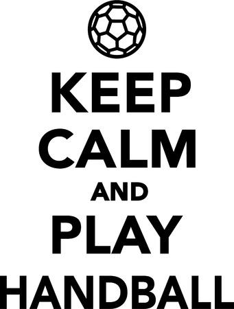 calm: Keep Calm and Play Handball