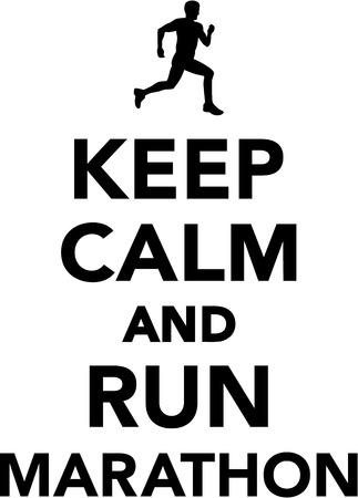 keep: Keep calm and run marathon