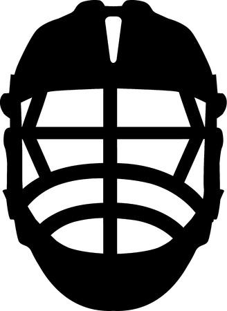 crosse: Lacrosse Helmet Front Illustration