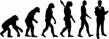 弁護士の進化  イラスト・ベクター素材
