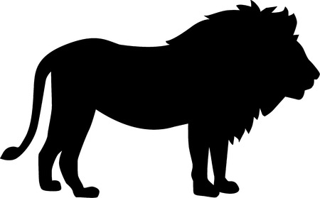 animales: Lion silueta