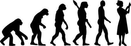 看護師の進化  イラスト・ベクター素材