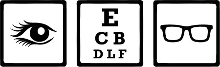 optometry: Optician Icons Eye
