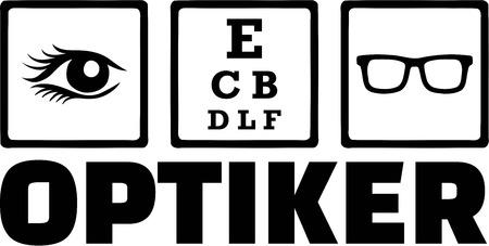 optician: Optician Icons Eye Optiker