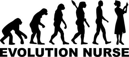 darwin: Nurse Evolution Illustration