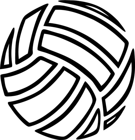 Outline Volleyball Illustration