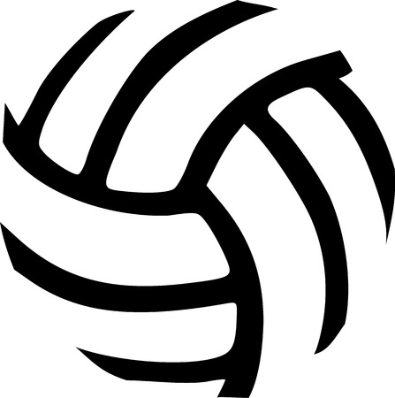Volleyball ball abstract Stock Illustratie