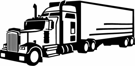 remolque: Camiones de Transporte Vectores