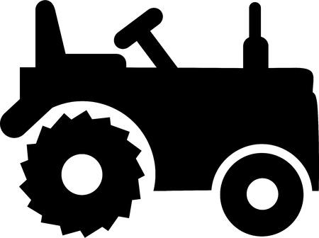 farming: Tractor Farming Illustration
