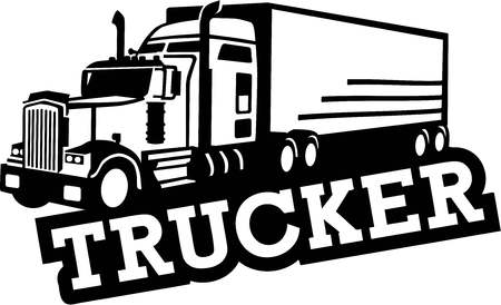 trucker: Truck Trucker Illustration
