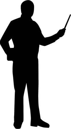 Teacher Silhouette Ilustração