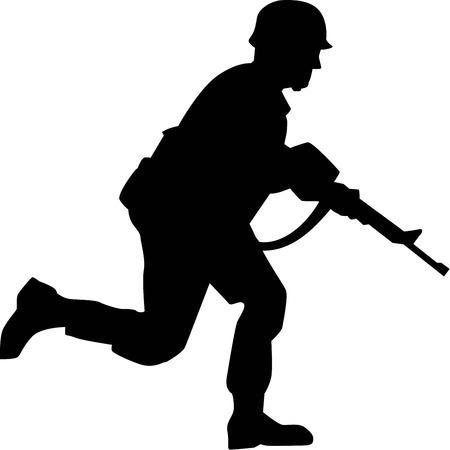 soldat silhouette: Soldier Silhouette