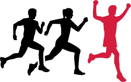 marathon running: Marathon competition Illustration