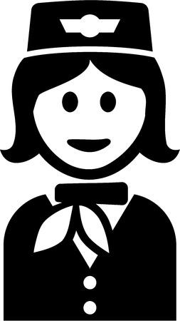stewardess: Stewardess Pictogram