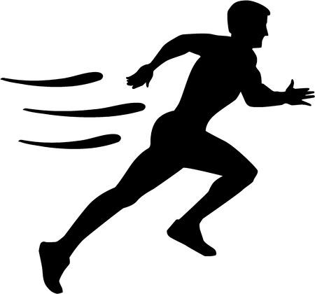 athlete running: Running with speed Illustration