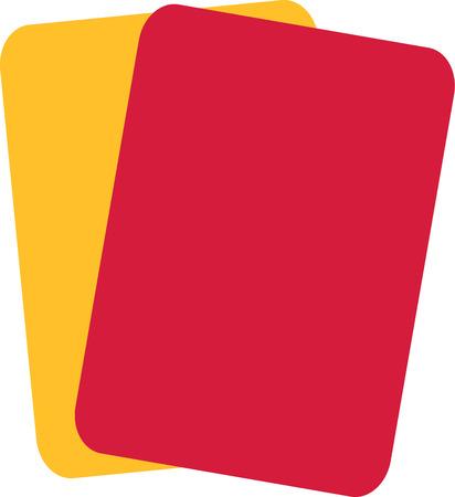 red and yellow card: F�tbol Tarjeta roja amarilla de F�tbol Vectores