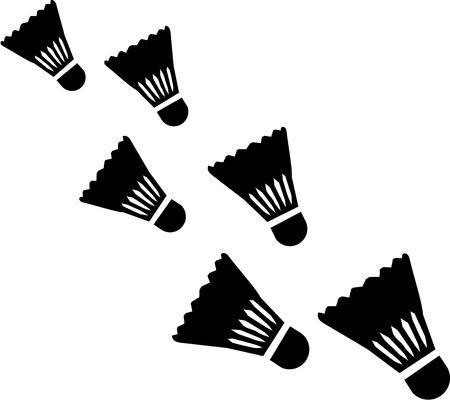 Falling Shuttlecocks