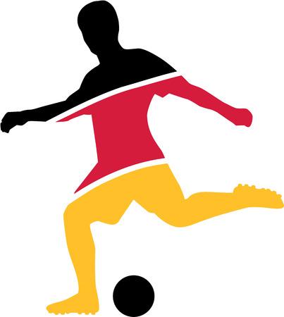 jaune rouge: Joueur de Football Noir Rouge Jaune