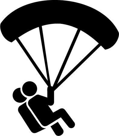 skydiving: Skydiving Couple Icon Illustration