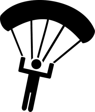 parachute jump: Parachuting Icon