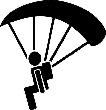 fallschirmj�ger: Skydiver Piktogramm