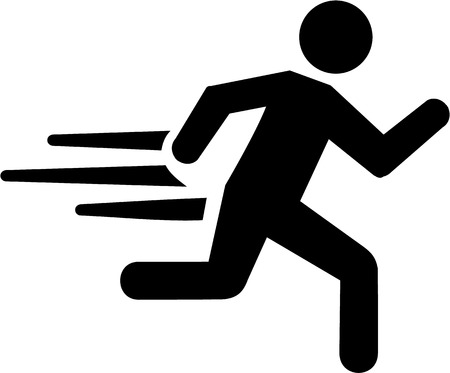 sports icon: Correr con la velocidad Vectores