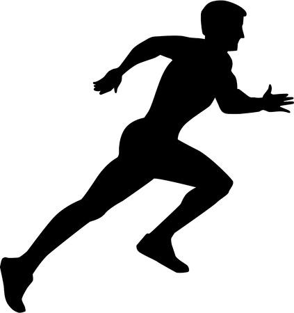 sprint: Running Sprint Silhouette Illustration