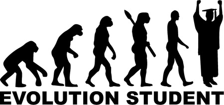 Student Evolution Illustration