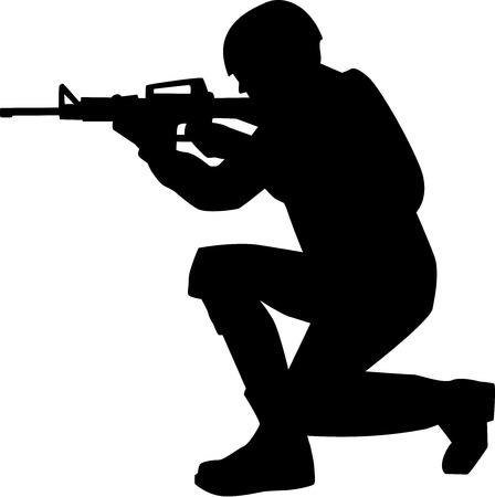 silhouette soldat: Soldier Silhouette