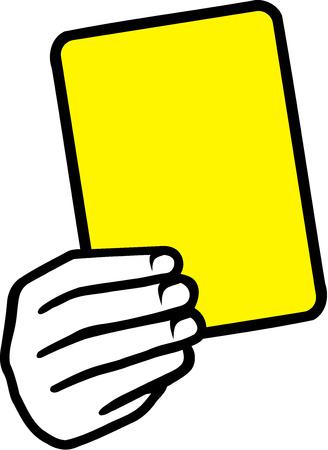 サッカーのイエロー カード手  イラスト・ベクター素材